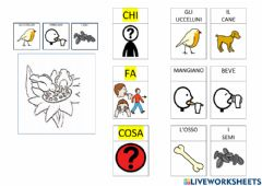 Interactive worksheet Chi fa cosa