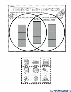Interactive worksheet Little Red Hen Makes a Pizza