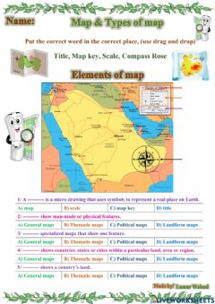 Interactive worksheet Types of map