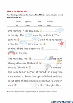 Interactive worksheet What is the weather like?