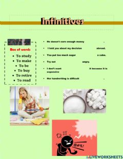 Ficha interactiva Gerunds and Infinitives