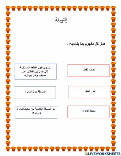 Interactive worksheet التهيئة