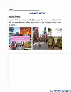 Interactive worksheet Narrative Writing