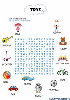 Interactive worksheet The Toys 2