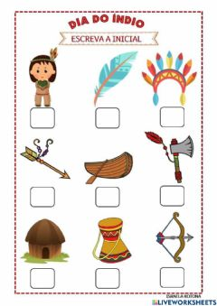 Interactive worksheet Dia do indio