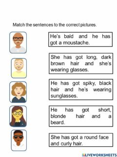 Interactive worksheet Year 5 unit 7: Growing Up