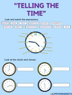 Interactive worksheet TELLING THE TIME - ROUTINES