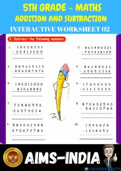 Ficha interactiva 5th-maths-ps02-addition and subtraction - ch 02