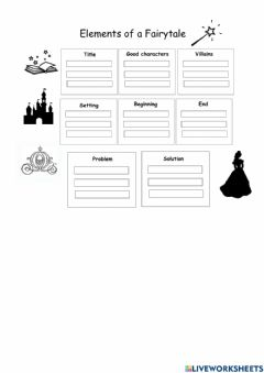 Interactive worksheet Elements of a fairytale