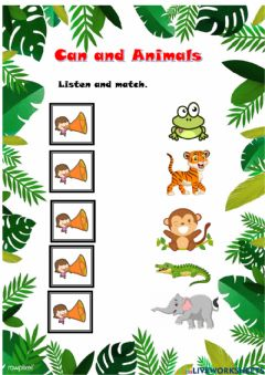 Interactive worksheet Can and wild animals