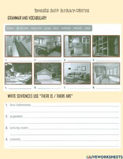 Interactive worksheet Houses and apartments