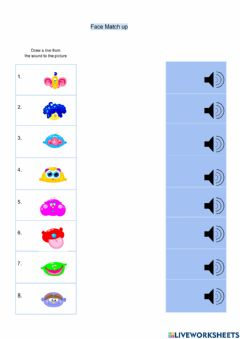 Interactive worksheet Face