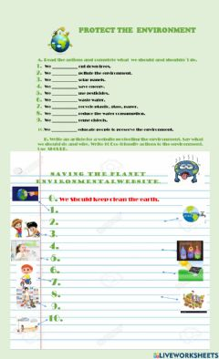 Interactive worksheet Should- Save the Earth