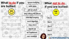Ficha interactiva Bullying: What to do? What not to do?