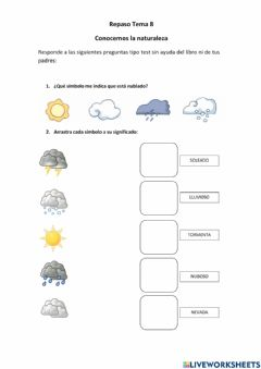 Interactive worksheet Repaso Conocemos la naturaleza