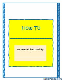Interactive worksheet Writing a How to Book