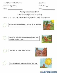 Interactive worksheet A Tale of a Tail (sequence)
