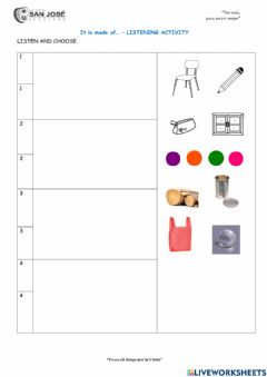 Interactive worksheet It is made of..