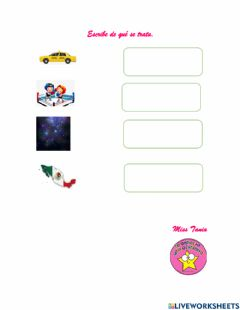 Interactive worksheet Letra X