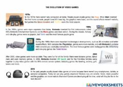 Interactive worksheet The Invention of video games