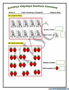 Interactive worksheet Counting in Groups(II)