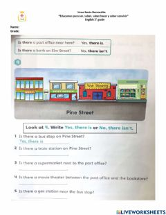 Interactive worksheet There is- there isn't