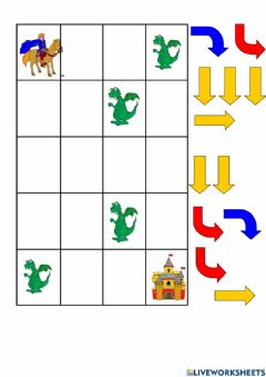 Ficha interactiva Take the prince to the castle. Watch out for dragons