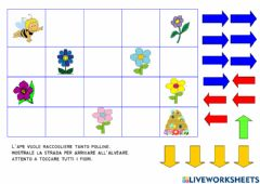 Ficha interactiva The bee and the flowers