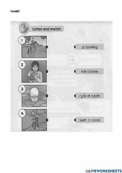 Interactive worksheet My pastime