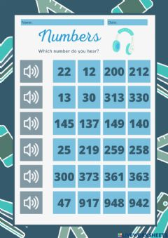 Interactive worksheet We are numbers experts 3