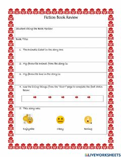 Interactive worksheet Fiction Book Review 2