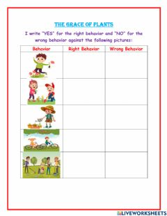 Interactive worksheet The Grace of Plants