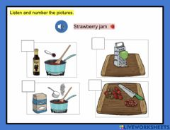 Interactive worksheet Recipe - Sequence 2