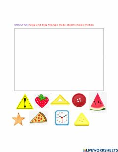 Interactive worksheet Shapes-Triangle