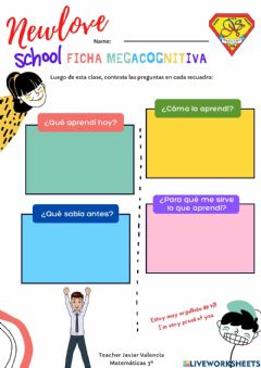 Interactive worksheet Ficha metacognitiva