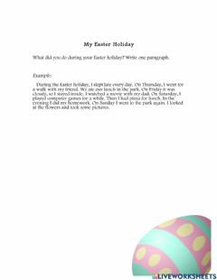 Interactive worksheet Easter Holiday