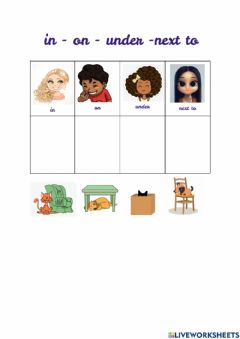 Interactive worksheet Prep of place