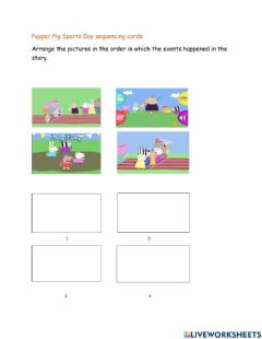 Interactive worksheet Peppa Pig Sports Day
