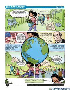 Interactive worksheet Earth Day comic