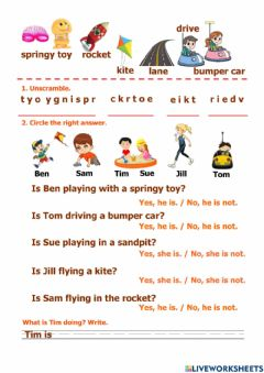 Interactive worksheet At the playground (5)