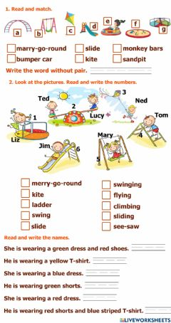 Interactive worksheet At the playground (revision)