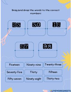 Ficha interactiva Let's count the numbers