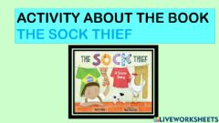 Interactive worksheet Activity about the book the sock thief