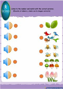 Interactive worksheet Counting from 1 to 10