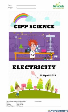 Interactive worksheet Electricity 1a