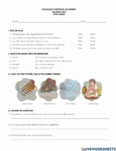 Interactive worksheet The herb lady