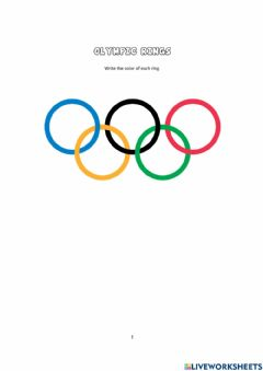 Ficha interactiva The Olympic Rings