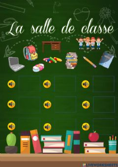 Interactive worksheet Les outils scolaires