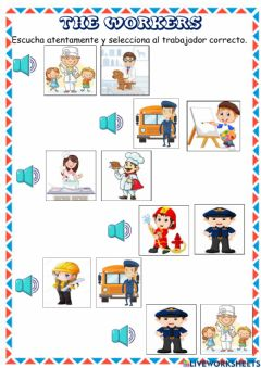 Interactive worksheet The workers