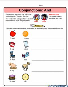 Interactive worksheet Conjunction -And-